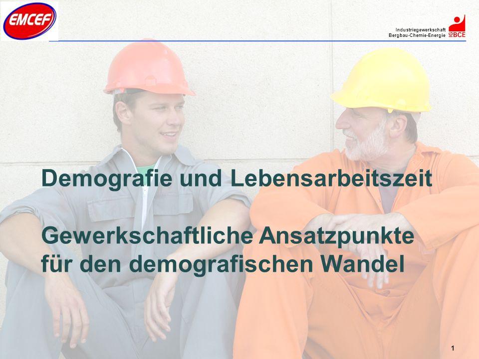Demografie und Lebensarbeitszeit Gewerkschaftliche Ansatzpunkte für den demografischen Wandel