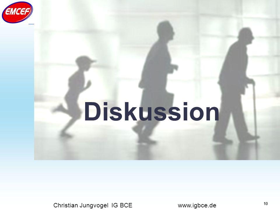 Diskussion Christian Jungvogel IG BCE www.igbce.de