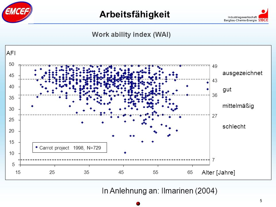 Work ability index (WAI)