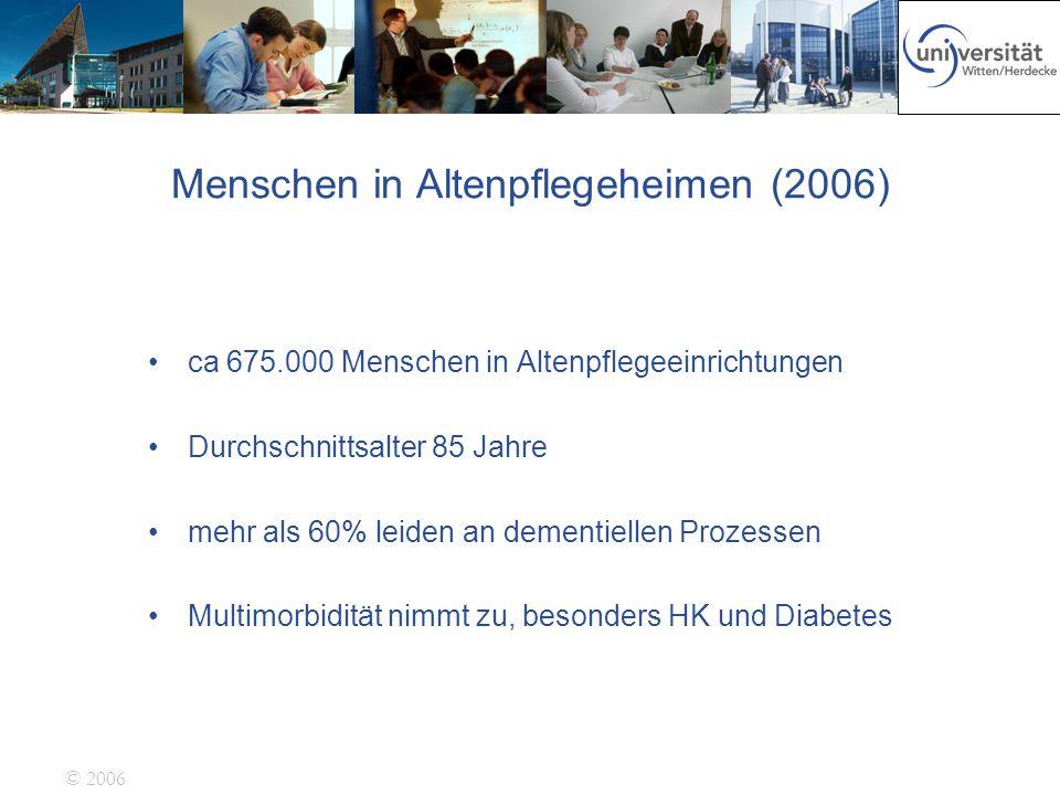 Menschen in Altenpflegeheimen (2006)