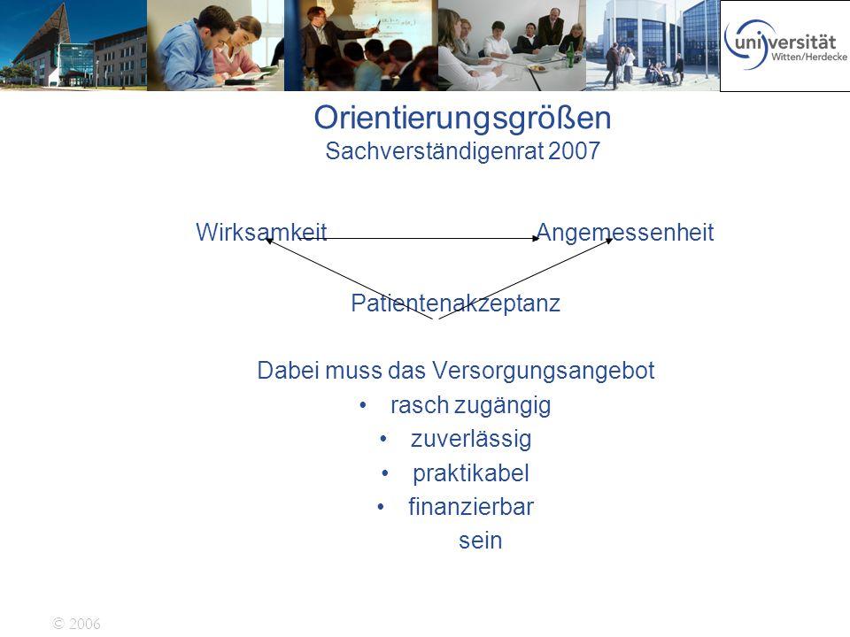 Orientierungsgrößen Sachverständigenrat 2007