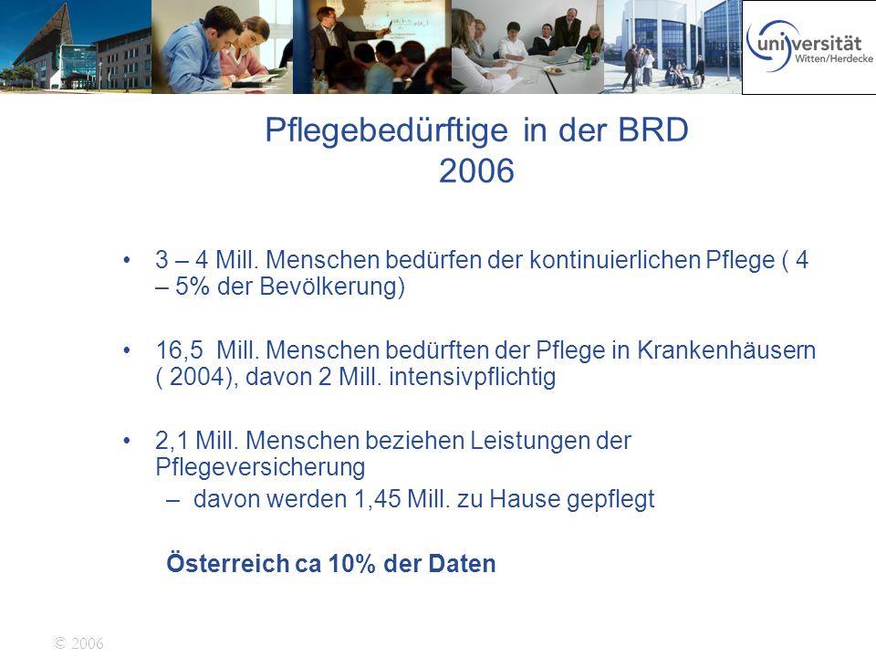 Pflegebedürftige in der BRD 2006