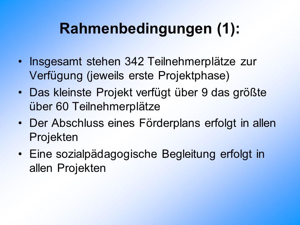 Rahmenbedingungen (1):
