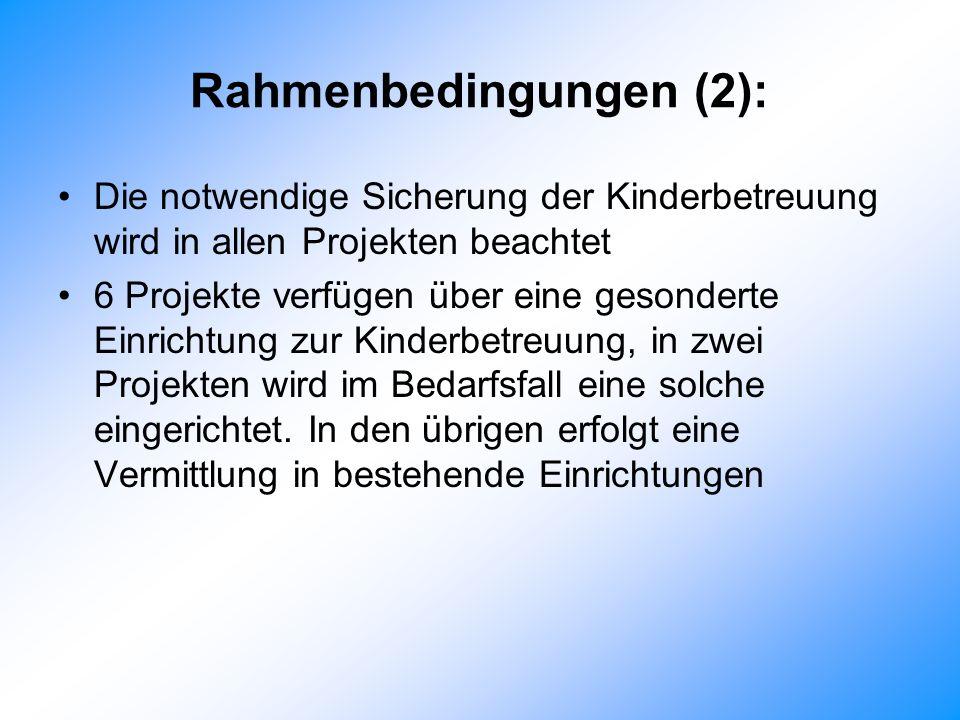 Rahmenbedingungen (2):