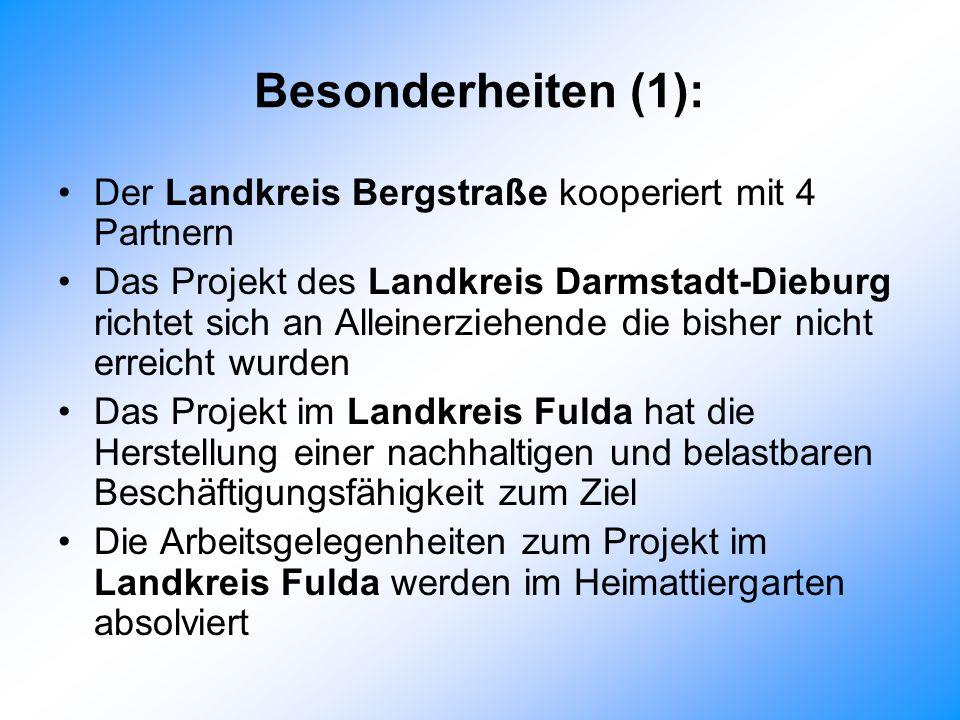 Besonderheiten (1): Der Landkreis Bergstraße kooperiert mit 4 Partnern