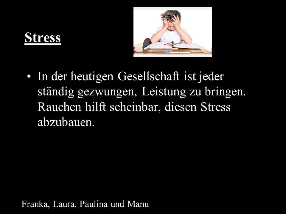 Stress In der heutigen Gesellschaft ist jeder ständig gezwungen, Leistung zu bringen. Rauchen hilft scheinbar, diesen Stress abzubauen.