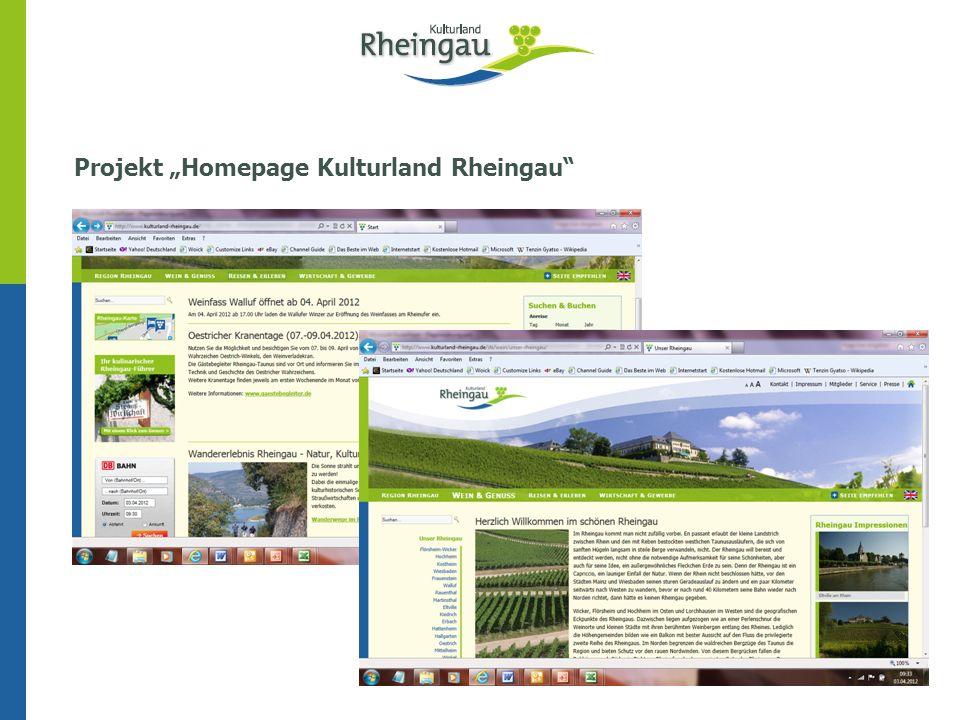 """Projekt """"Homepage Kulturland Rheingau"""