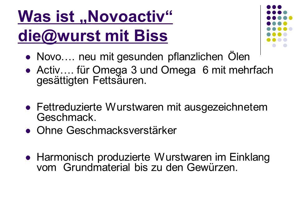 """Was ist """"Novoactiv die@wurst mit Biss"""