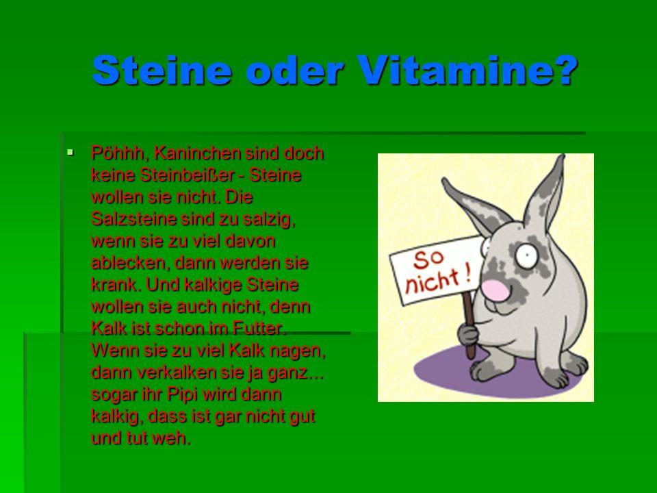 Steine oder Vitamine