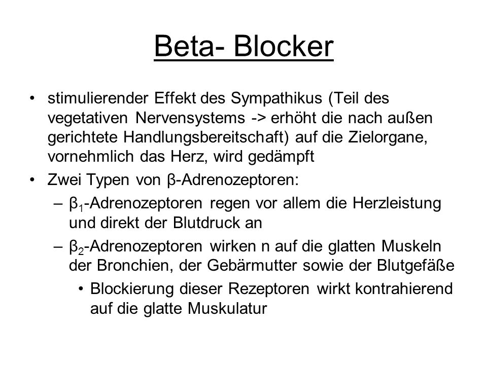 Beta- Blocker