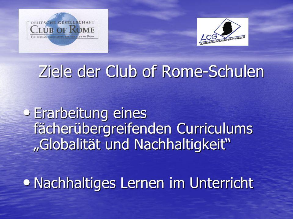 Ziele der Club of Rome-Schulen