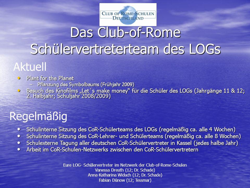 Das Club-of-Rome Schülervertreterteam des LOGs