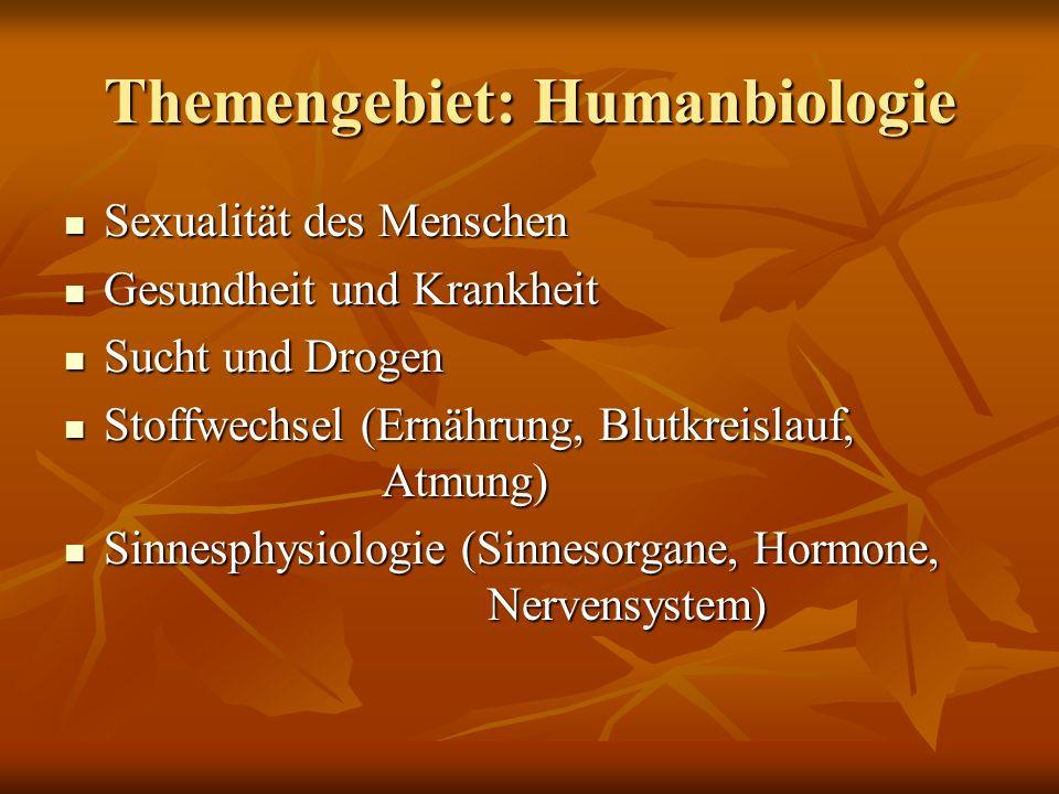 Themengebiet: Humanbiologie