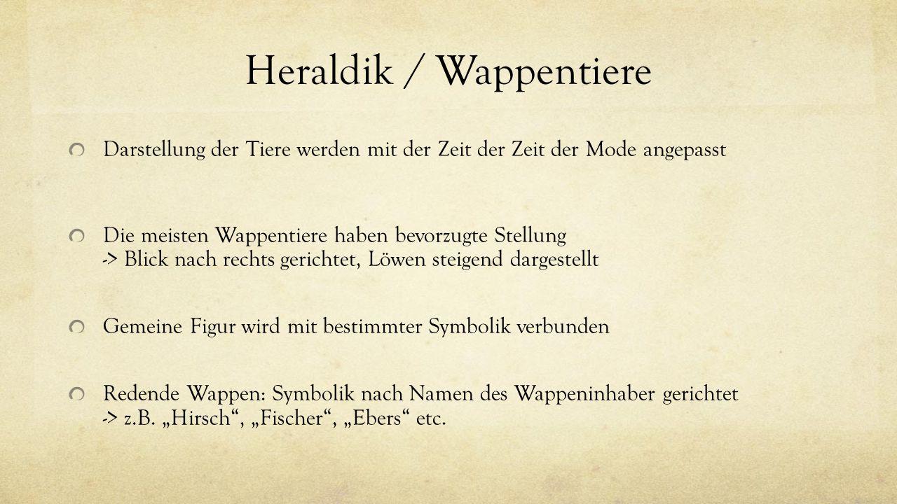Heraldik / Wappentiere
