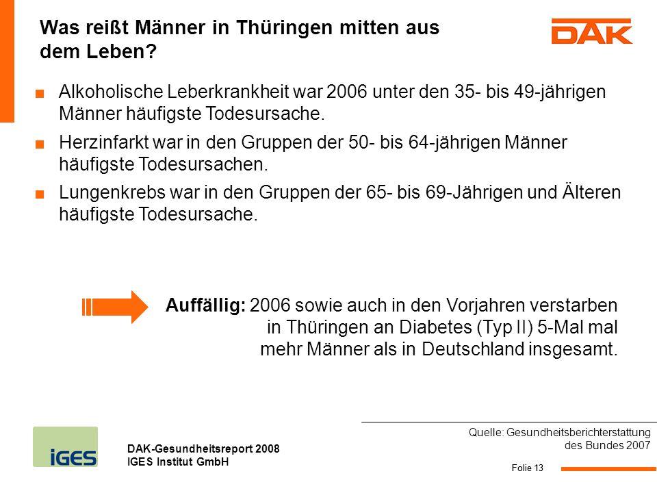Was reißt Männer in Thüringen mitten aus dem Leben