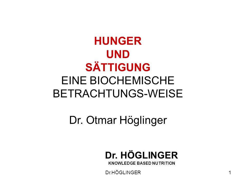 HUNGER UND SÄTTIGUNG EINE BIOCHEMISCHE BETRACHTUNGS-WEISE