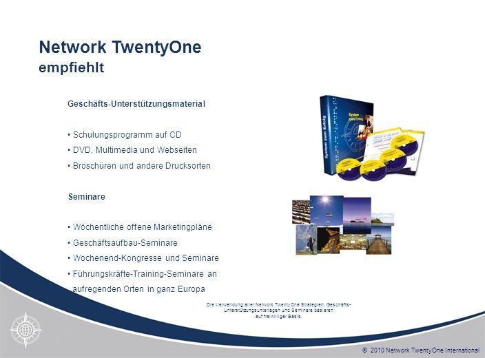 Network TwentyOne empfiehlt Geschäfts-Unterstützungsmaterial