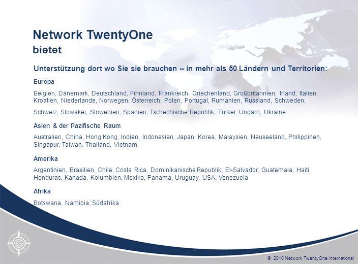 Network TwentyOne bietet