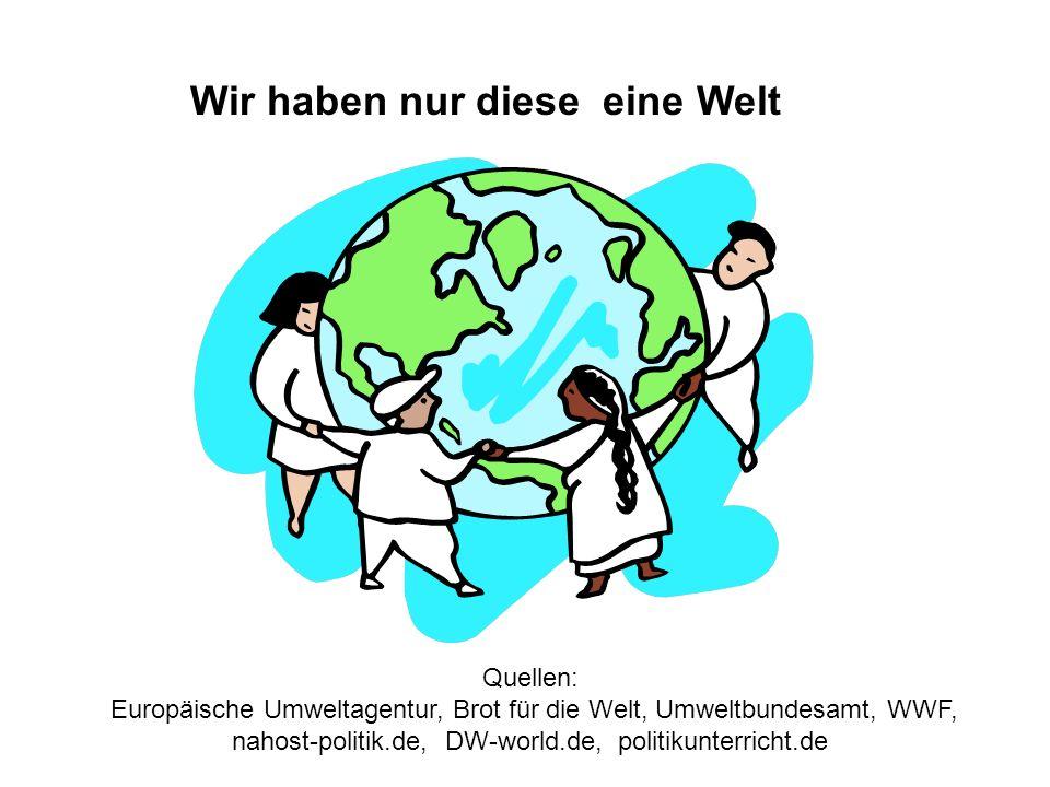 Wir haben nur diese eine Welt