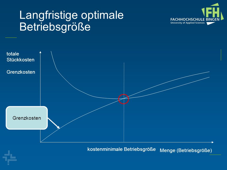 Langfristige optimale Betriebsgröße