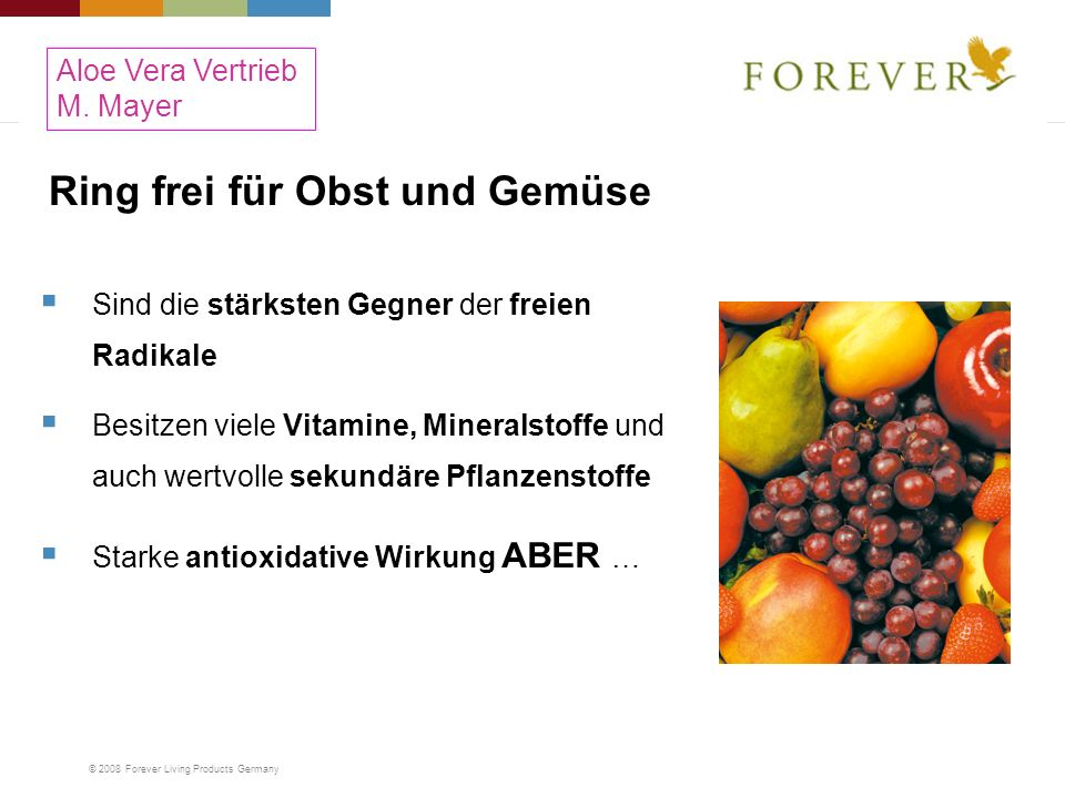 Ring frei für Obst und Gemüse
