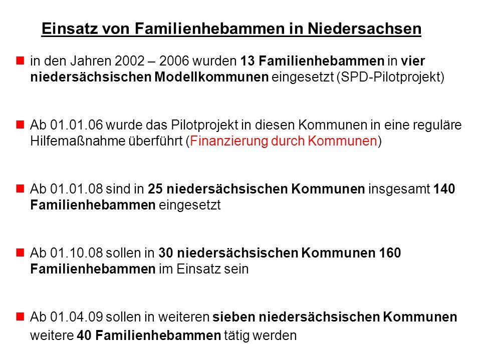 Einsatz von Familienhebammen in Niedersachsen