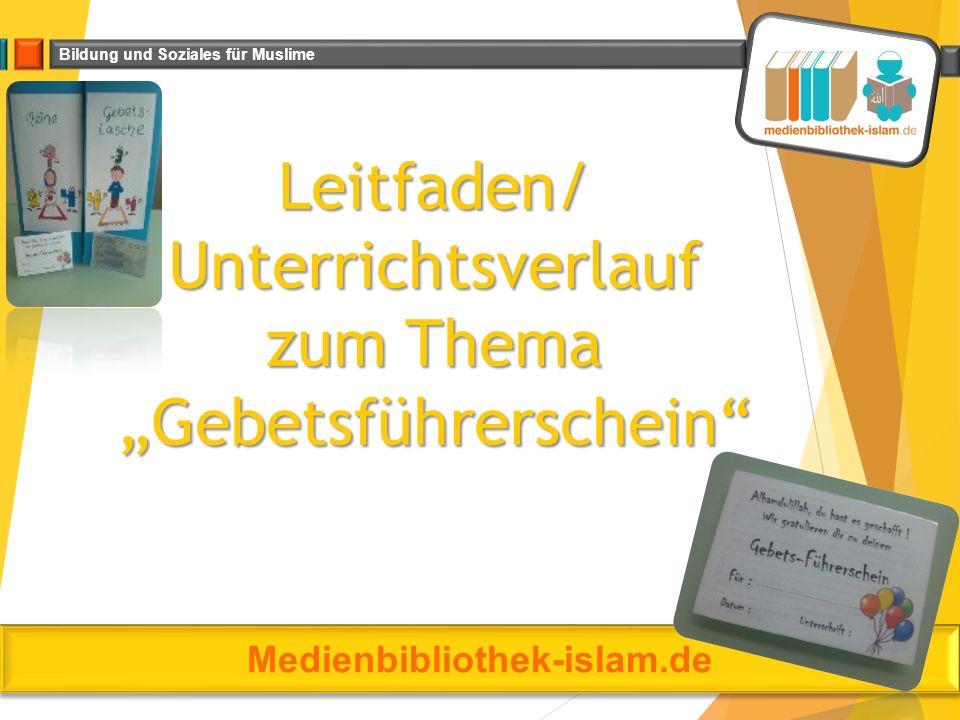 """Leitfaden/ Unterrichtsverlauf zum Thema """"Gebetsführerschein"""