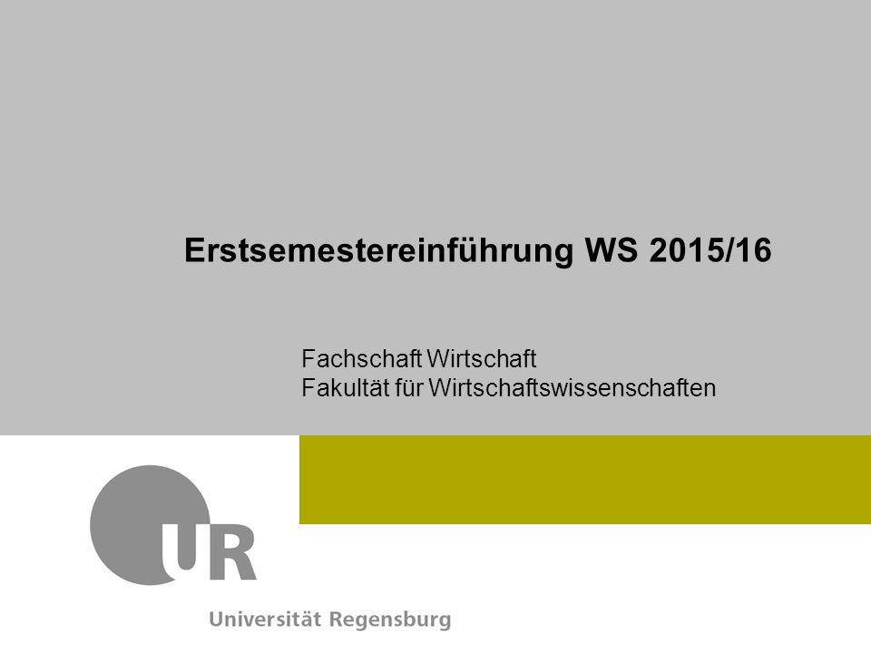 Erstsemestereinführung WS 2015/16