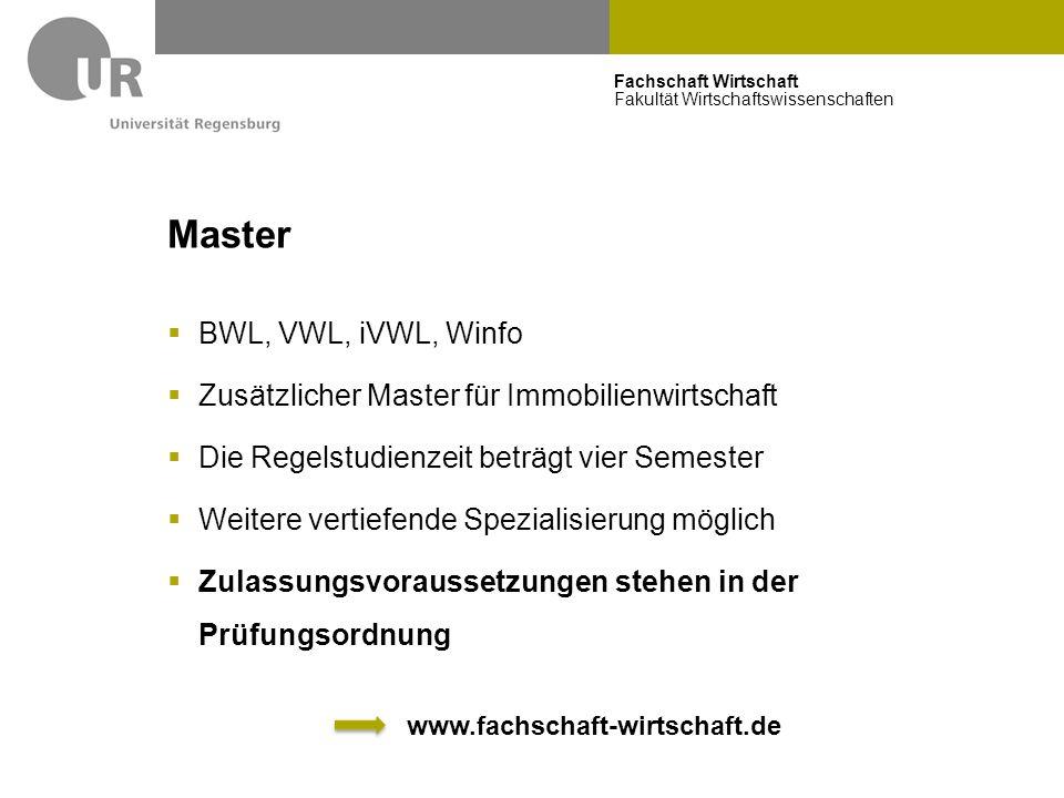 Master BWL, VWL, iVWL, Winfo