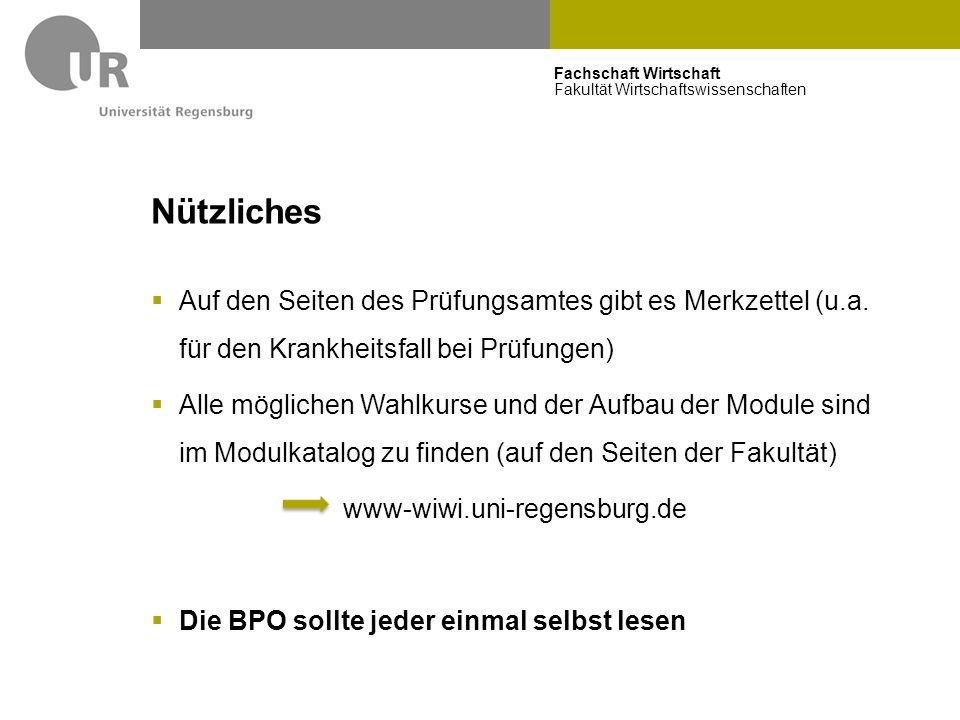 Nützliches BPO2011. Auf den Seiten des Prüfungsamtes gibt es Merkzettel (u.a. für den Krankheitsfall bei Prüfungen)