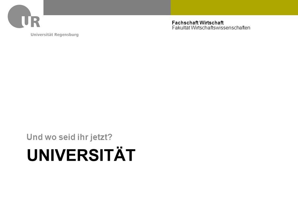 Universität Und wo seid ihr jetzt