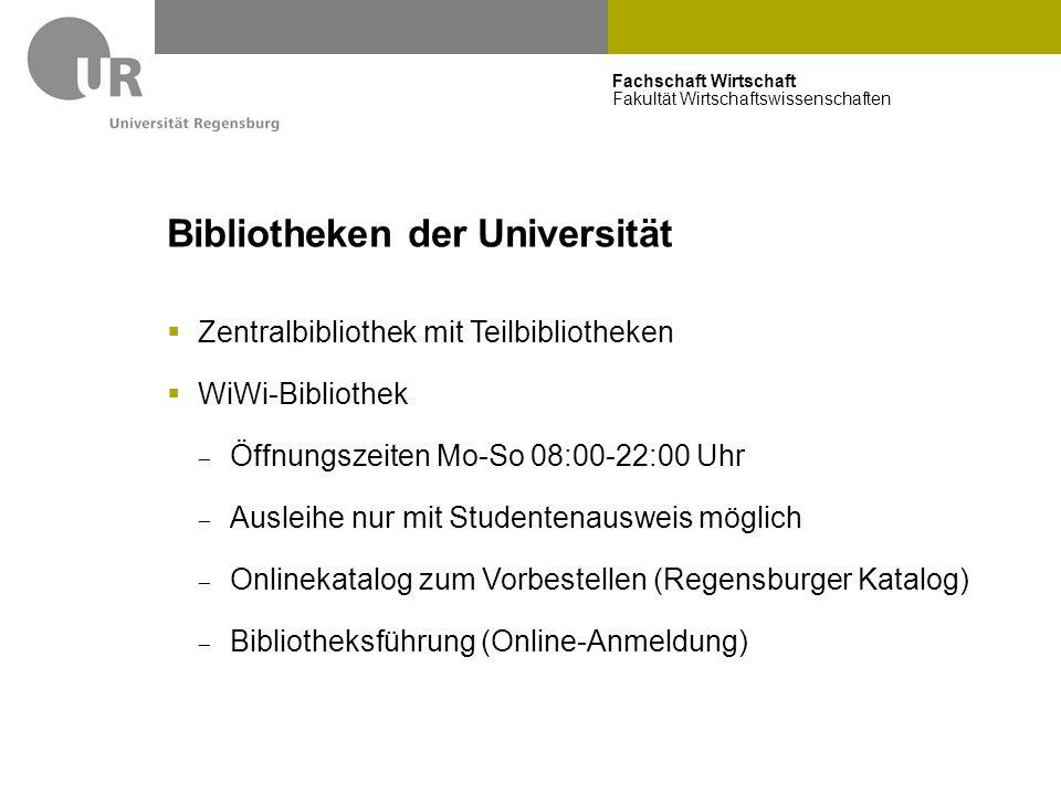 Bibliotheken der Universität