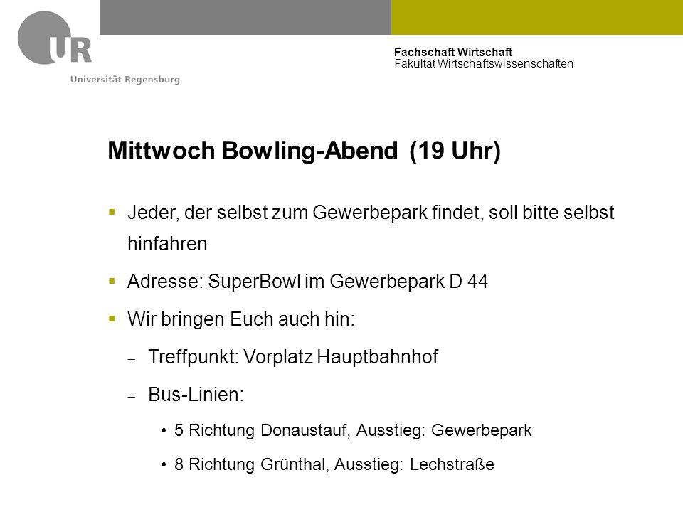Mittwoch Bowling-Abend (19 Uhr)