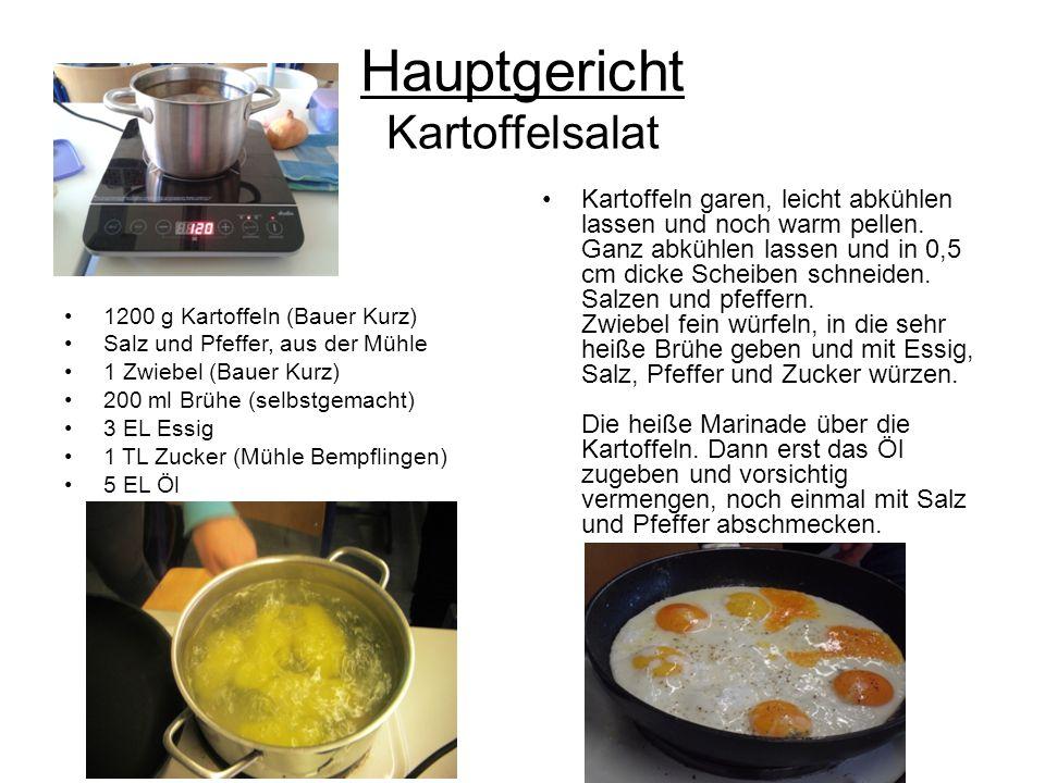 Hauptgericht Kartoffelsalat