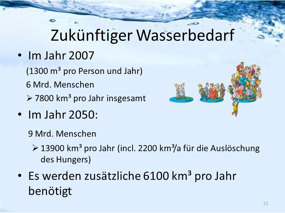 Zukünftiger Wasserbedarf