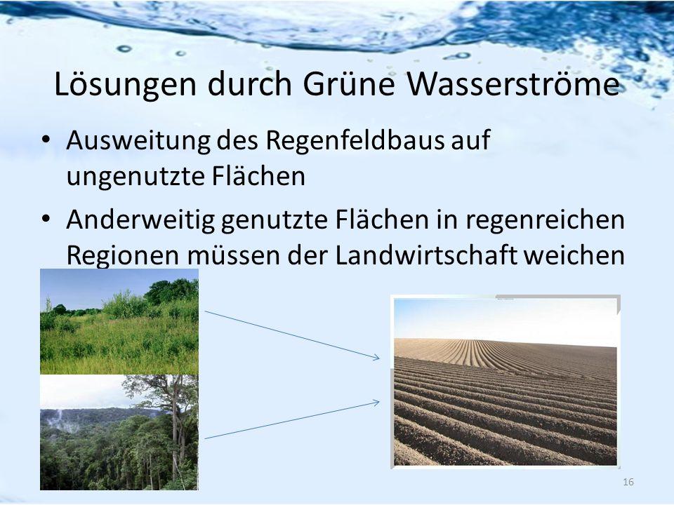 Lösungen durch Grüne Wasserströme