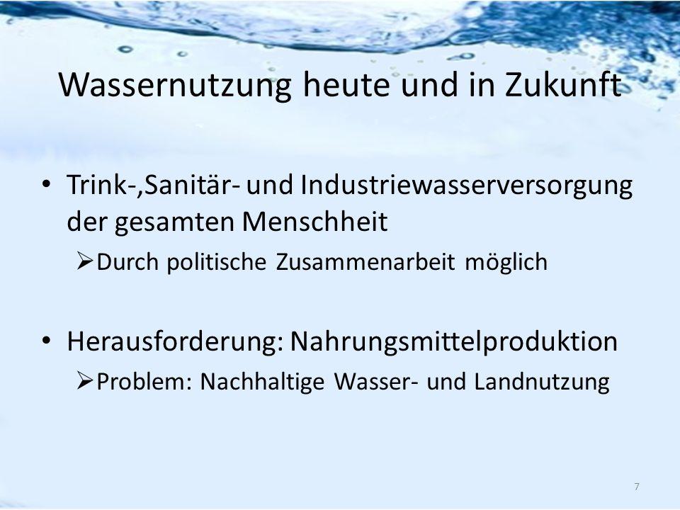 Wassernutzung heute und in Zukunft