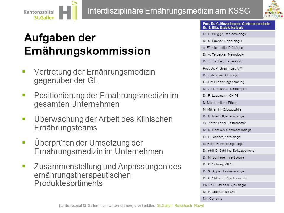 Aufgaben der Ernährungskommission