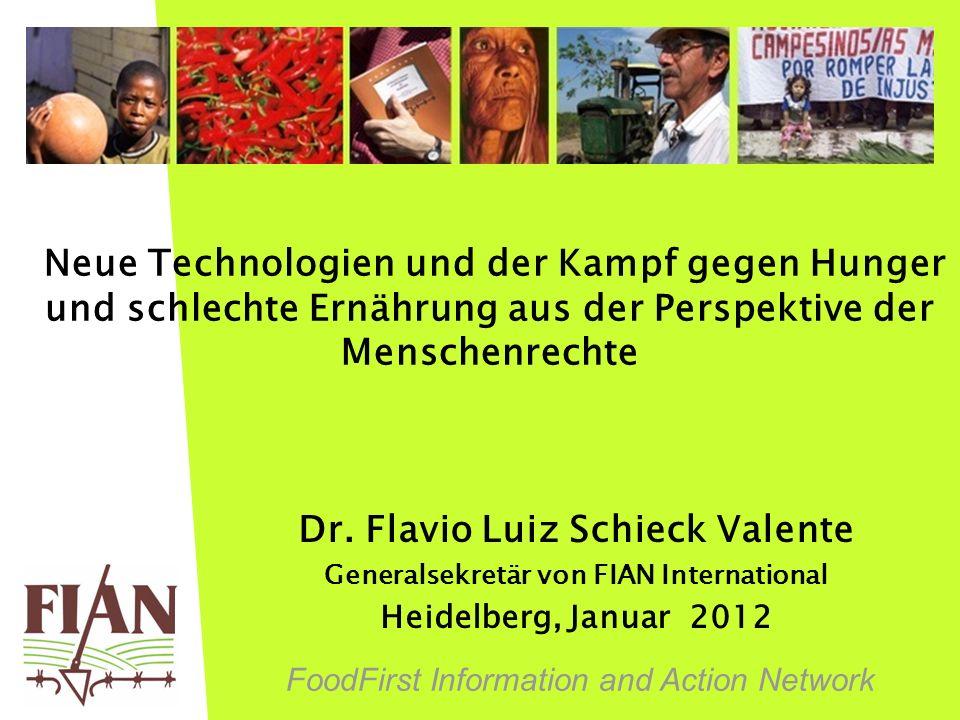 Dr. Flavio Luiz Schieck Valente Generalsekretär von FIAN International