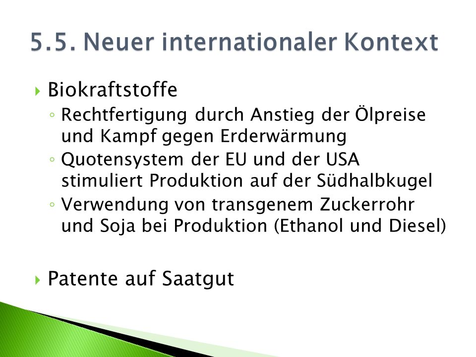 5.5. Neuer internationaler Kontext