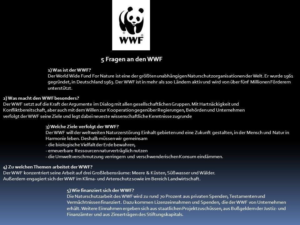 5 Fragen an den WWF 1) Was ist der WWF