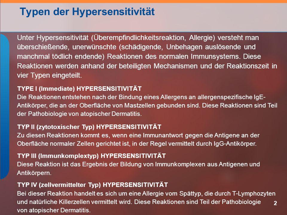 Typen der Hypersensitivität