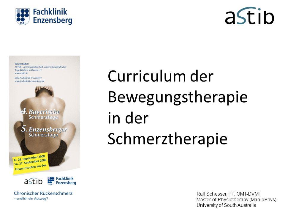 Curriculum der Bewegungstherapie in der Schmerztherapie