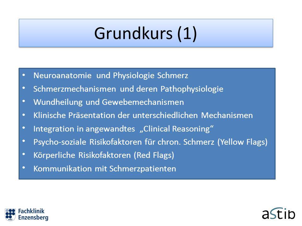 Grundkurs (1) Neuroanatomie und Physiologie Schmerz