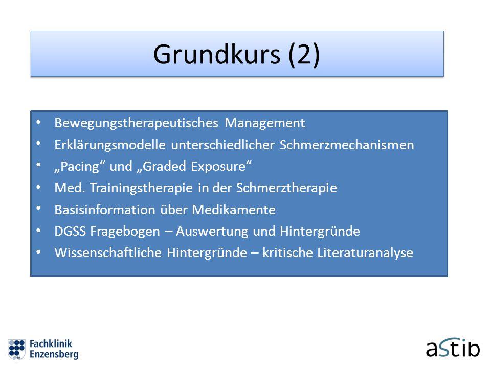 Grundkurs (2) Bewegungstherapeutisches Management