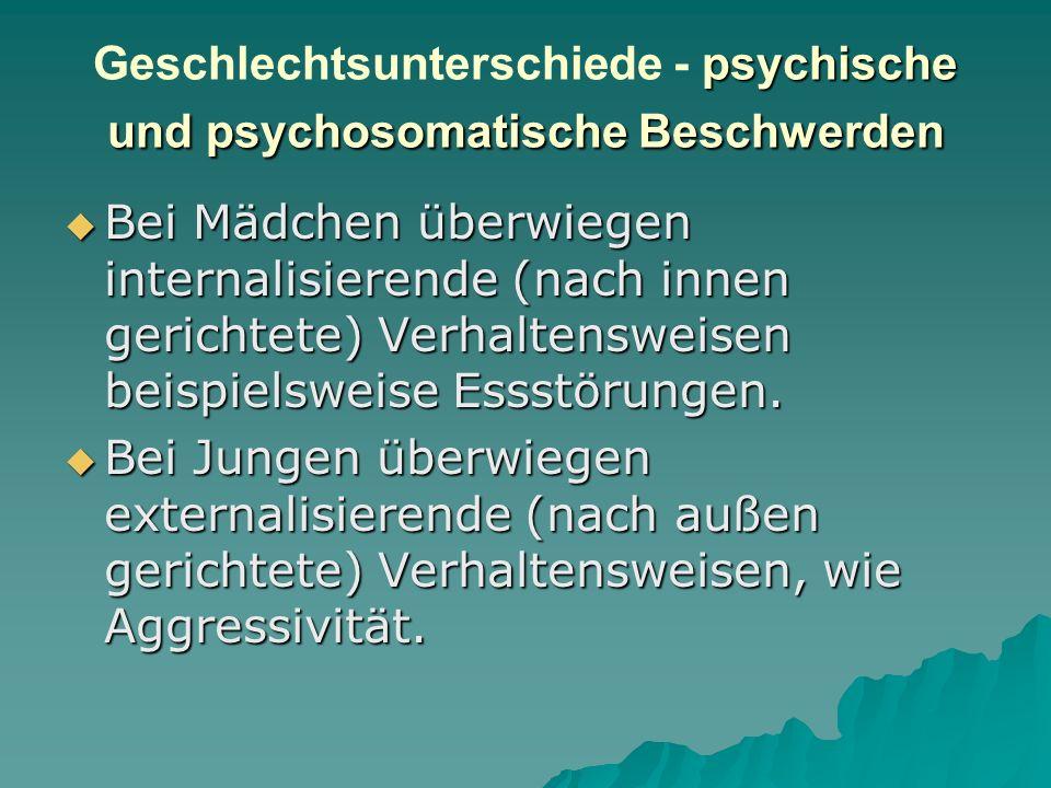 Geschlechtsunterschiede - psychische und psychosomatische Beschwerden