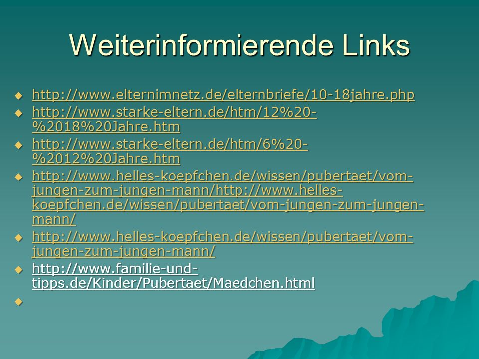 Weiterinformierende Links