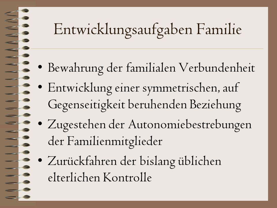 Entwicklungsaufgaben Familie