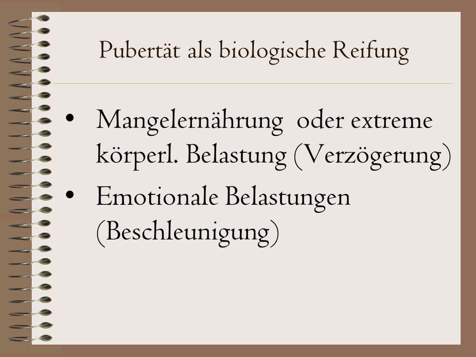 Pubertät als biologische Reifung