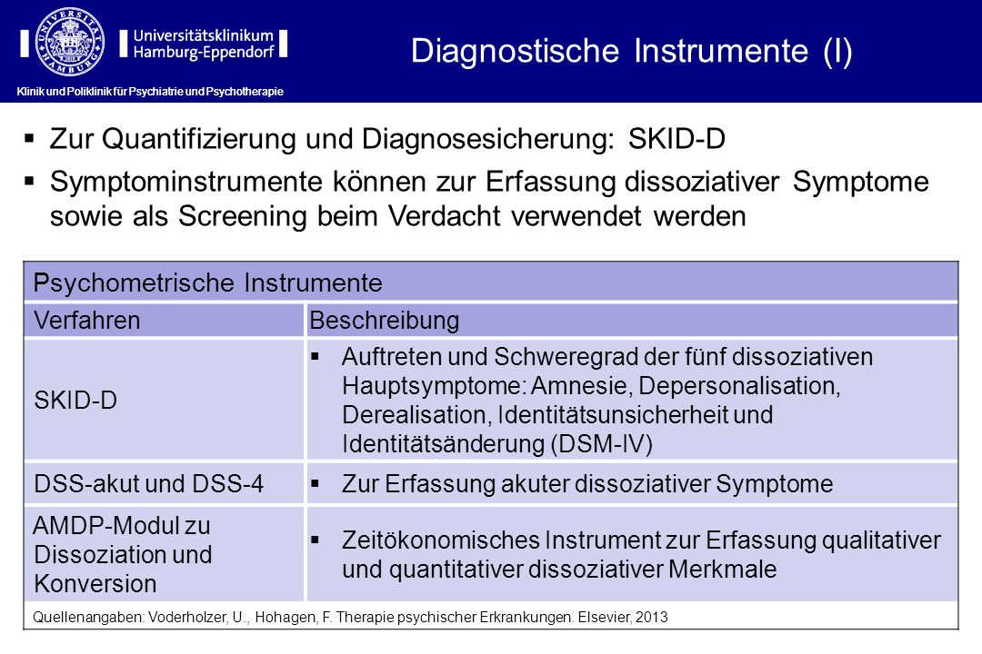 Diagnostische Instrumente (I)
